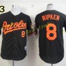 8 Cal Ripken Jersey 1989 Cooperstown Baltimore Orioles Baseball Jerseys Throwback Black Style 2