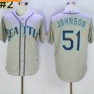 Seattle Mariners 51 Randy Johnson Jersey Cooperstown Baseball Jerseys Vintage Flexbase Grey