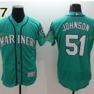 Seattle Mariners 51 Randy Johnson Jersey Cooperstown Baseball Jerseys Vintage Flexbase Blue