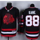 #88 patrick kane Skulls Black Red ICE Throwback Vintage Jersey ICE Hockey Jerseys Heritage Stitched