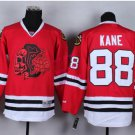 #88 patrick kane Skulls Red ICE Throwback Vintage Jersey ICE Hockey Jerseys Heritage Stitched