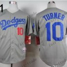 Los Angeles Dodgers #10 Justin Turner 2015 Baseball Jersey Grey Authentic Stitched