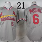 st.louis cardinals #6 Stan Musial 2015 Baseball Jersey  Authentic Stitched