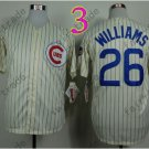 Billy williams Jersey 1969 Throwback Chicago Cubs Jerseys Cream Pinstripe