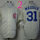 Chicago Cubs Baseball Jersey 31 Greg Maddux Cream Jersey Stitched Authentic Baseball Jersey