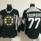 Top Quality Mens Boston Bruins Jerseys #77 Ray Bourque Black White Vintage Ice Hockey Jersey