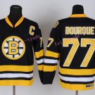 Top Quality Mens Boston Bruins Jerseys #77 Ray Bourque Black Yellow Vintage Ice Hockey Jersey