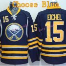 Buffalo Sabres Jersey 15 Jack Eichel Ice Hockey Jerseys Throwback Home Blue Jerseys