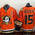 Anaheim Ducks Hockey Jerseys #15 Ryan Getzlaf Jersey Third Orange Alternate Ice Hockey