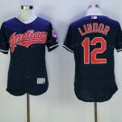 Cleveland Indians 12 Francisco Lindor Jersey 2016 World Series Baseball Jerseys Blue Style 1