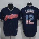 Cleveland Indians 12 Francisco Lindor Jersey 2016 World Series Baseball Jerseys Blue Style 3