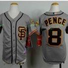 2017 Kids Majestic Stitched San Francisco Giants 8 Hunter Pence Grey Youth Baseball Jersey