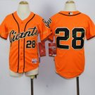 2017 Kids Majestic Stitched San Francisco Giants 28 Buster Posey Orange Youth Baseball Jersey