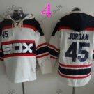 Chicago White Sox #45 Michael Jordan Baseball Hooded Stitched Old Time Hoodies Sweatshirt Jerseys