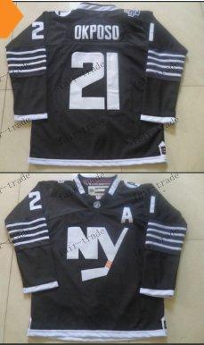 new york islanders #21 kyle okposo Black 2015 Ice Winter Hockey Jerseys Authentic Stitched