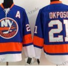 new york islanders #21 kyle okposo Blue Orange 2015 Ice Winter Hockey Jerseys Authentic Stitched