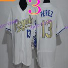 Kansas City Royals #13 Salvador Perez 2016 Baseball Jersey Authentic Stitched