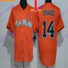 miami marlins #14 prado  2016 Baseball Jersey Authentic Stitched