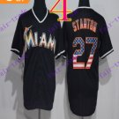 miami marlins Giancarlo Stanton #27 Black Usa 2016 Baseball Jersey Authentic Stitched
