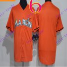 miami marlins Orange 2016 Baseball Jersey Authentic Stitched