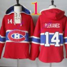 montreal canadiens #14 tomas plekanec Red hoodie Hockey Hooded Sweatshirt Jerseys