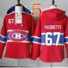 montreal canadiens #67 Max Pacioretty Red hoodie Hockey Hooded Sweatshirt Jerseys