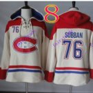 montreal canadiens P.K. SUBBAN #76  White hoodie Hockey Hooded Sweatshirt Jerseys