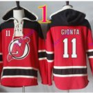 new jersey devils #11 stephen gionta red hoodie Hockey Hooded Sweatshirt Jerseys