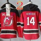 new jersey devils #14 adam henrique red hoodie Hockey Hooded Sweatshirt Jerseys