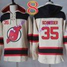 new jersey devils #35 Cory Schneider White hoodie Hockey Hooded Sweatshirt Jerseys