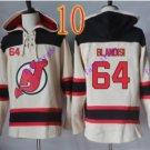 new jersey devils #64 Joseph Blandisi White hoodie Hockey Hooded Sweatshirt Jerseys