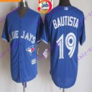 2016 Majestic Official Stitched 40th Toronto Blue Jays #19 jose bautista Blue Jerseys
