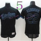 Los Angeles Dodgers Baseball Jerseys 22 Clayton Kershaw Jersey Black Stitched