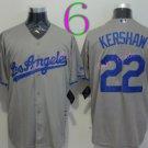 Los Angeles Dodgers Baseball Jerseys 22 Clayton Kershaw Jersey Grey Style 1