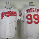 Cleveland Indians #99 Rick Vaughn 2015 Baseball Jersey White Authentic Stitched
