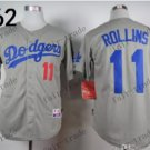 Los Angeles Dodgers #11 Jimmy Rollins Grey 2015 Baseball Jersey Authentic Stitched