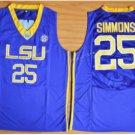 Tigers College Jerseys 2017 Fashion 25 Ben Simmons Jersey Shirt Uniforms Home Blue
