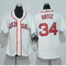 2017 Women Majestic Stitched Boston Red sox 34 David Ortiz White Cool Base Jersey