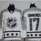 Men 2017 Hockey Jersey All Star White 17 Wayne Simmonds