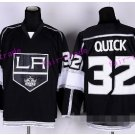 Los Angeles Kings Hockey 32 Jonathan Quick Jerseys Throwback Stadium Series Home Black 3th Alternate