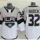 Los Angeles Kings Hockey 32 Jonathan Quick White Brown Jerseys Stadium Series 3th Alternate