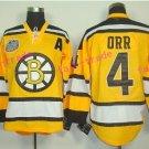 oston Bruins Ice Hockey #4 Bobby Orr Jersey Yellow Authentic 2017 Winter Classic Jerseys