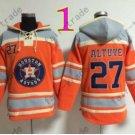 Houston Astros Hoodie Jersey 27 Jose Altuve Shirt Stitched Baseball Pullover Hoodie Sweatshirt
