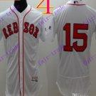 2016 Flexbase Stitched boston red sox 15 Pedroia White Baseball Jersey
