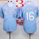 2016 Majestic Official Cool Base Stitched KC Kansas City Royals #16 Bo Jackson Light Blue