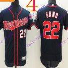 2016 Flexbase Stitched Minnesota Twins Blank 22 Sano Blue Baseball Jersey