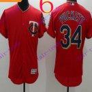 2016 Flexbase Stitched Minnesota Twins Blank 34 Puckett Red Baseball Jersey