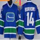 Stitched Vancouver Canucks 14 Alex Burrows Blue 3rd Hockey Jerseys Ice Jersey