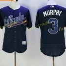 Atlanta Braves 3 Dale Murphy Jersey Cooperstown Baseball Jerseys Flexbase Cool Base Navy