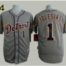 2016 #1 Jose Iglesias Jersey Stitched Detroit Tigers Baseball Jerseys Cool Base Grey